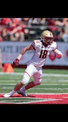 Maine-Endwell graduate Mike Palmer has 68 tackles and two interceptions for Boston College.