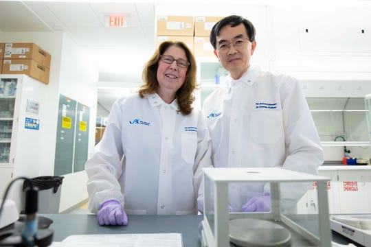"""Science investigators and husband and wife, Emily Germain-Lee (left) and Se-Jin Lee (right) are working together to send """"mighty mice"""" to space that will study muscle degradation in microgravity environments."""
