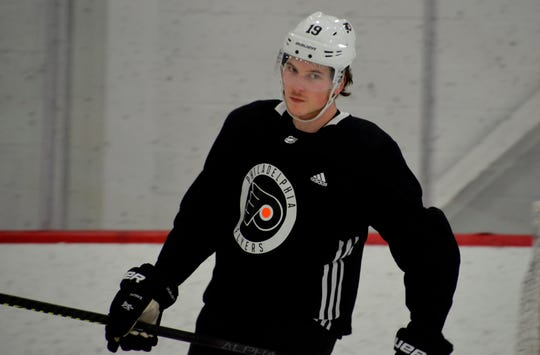 Flyers center Nolan Patrick hasn't played a game since April due to migraine disorder. He's still having headaches, but is progressing toward practicing with the team.