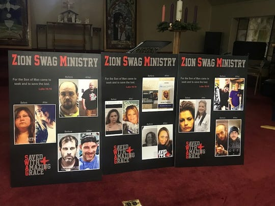 Zion Baptist Church keeps these before and after shots of its SWAG Ministry members.