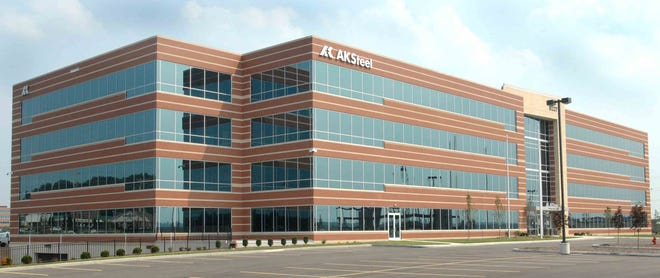August 2, 2007: Detail shot of AK Steel Corp. new office building. AK Steel Corp. is in the process of moving in to their corporate office West Chester Township.