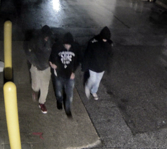 Ankeny police have released this surveillance footage showing three male suspects related to an armed robbery. Authorities want to talk to the trio, who is accused of pointing a gun at a man and demanding money Nov. 30, 2019 outside of the Ankeny Walmart.