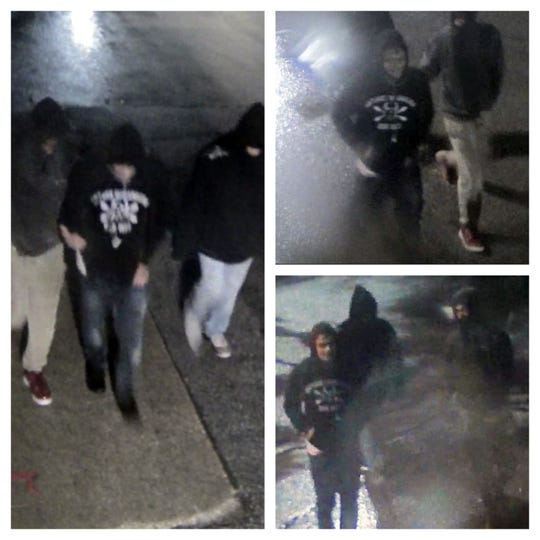 Ankeny police have released these surveillance stills showing three male suspects related to an armed robbery. Authorities would like information about the trio, who is accused of pointing a gun at a man and demanding money Nov. 30, 2019 outside of the Ankeny Walmart.