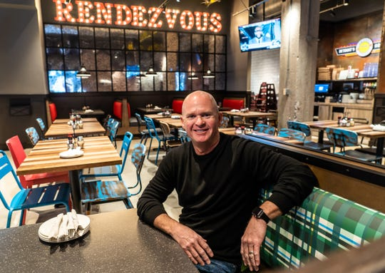 Buddy's CEO Burton Heiss poses for a photo inside the new Buddy's Pizza location in downtown Detroit on Tuesday, Dec. 3, 2019.