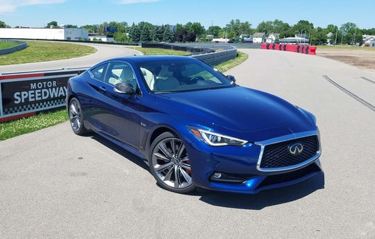 The Infiniti Q60 Red Sport 400 (as in 400 horsepower) is a fun drive on track with its all-wheel-drive power and slippery 0.28 drag-coefficient. At over 4,000 pounds, the all-wheel drive model is heavy.