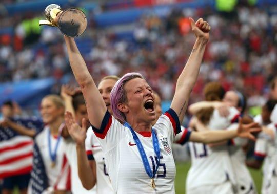 United States women's soccer team captain Megan Rapinoe won her first Ballon d'Or on Monday.