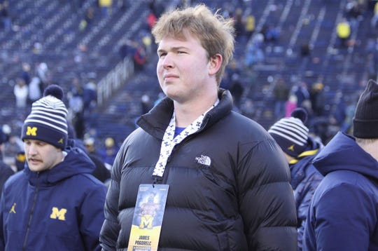 James Pogorelc, a fast-rising offensive tackle from Virginia, will take his official visit to Michigan this weekend.