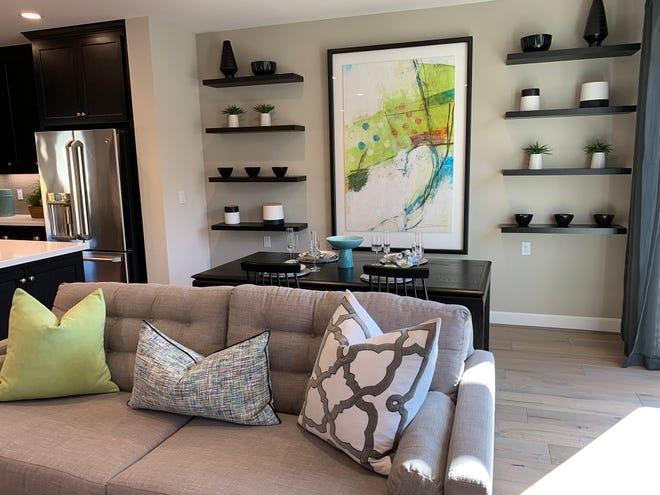 Green paired with gray makes an interesting color contrast. (Design Recipes/TNS)