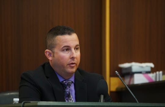 Lt. David Lebid testifies during the trial of Mark Sievers on Tuesday, Dec, 3, 2019. Sievers is charged in the murder of his wife Dr. Teresa Sievers. The defense is bringing forward its witnesses.