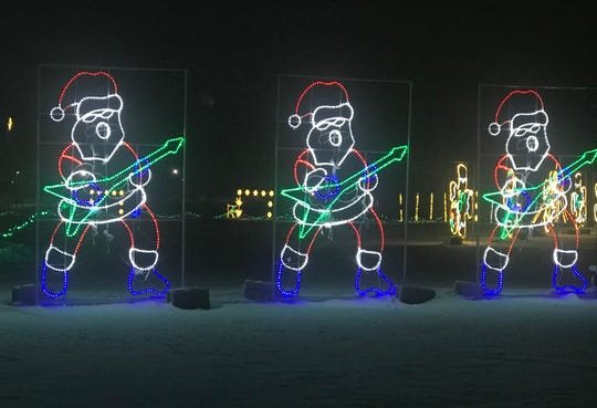 Santa's Rock N Lights is a drive-through light show at the Brown County Fairgrounds in De Pere.