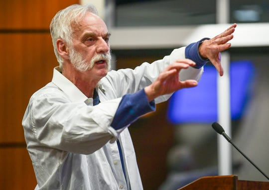 Larry Gaither, a resident of Clemson, voices his concern about city growth and developments during a Clemson City Council meeting in Clemson Monday, December 2, 2019. A presentation by the group Build a Better Clemson was made during the meeting, sparking a request to pause further approvals for development in the city.
