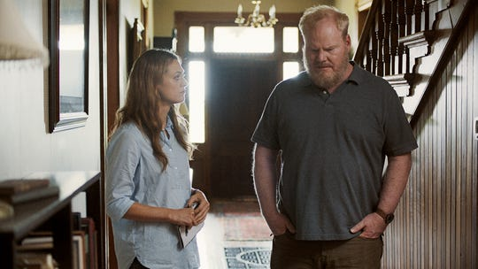 "Marin Ireland and Jim Gaffigan act in a scene from ""Light From Light,"" an upcoming Knoxville-filmed movie. This scene was shot at Strong Stock Farm."
