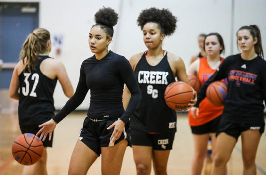 Sisters Kyinidi Striverson (left) and Alana Striverson (right) have been a huge addition for Silver Creek this season.
