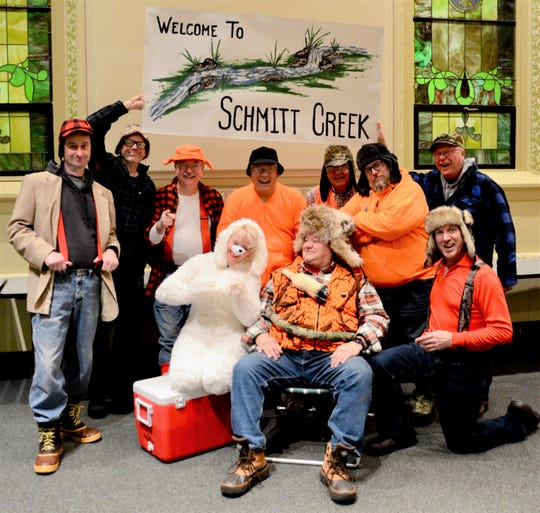 Cast of 'Da Yooper Who Stole Christmas,' from left: Tim Steffen, Bill Fricke, Paul Blair, Chris Kornely, Jim Rasmus, Rick Gerroll, Randy Detjen, Jason Ring, Don Lewellen and Bob Fricke.