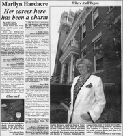 A 1997 article from the Marshfield News Herald featuring Marilyn Hardacre.