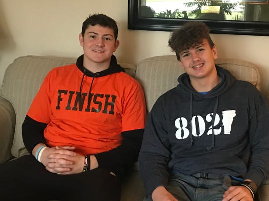 Mansfield Senior's Clay Caudill and Lucas' Logan Niswander spent Thanksgiving together before winning Final 4 games to advance their teams to the state championship.