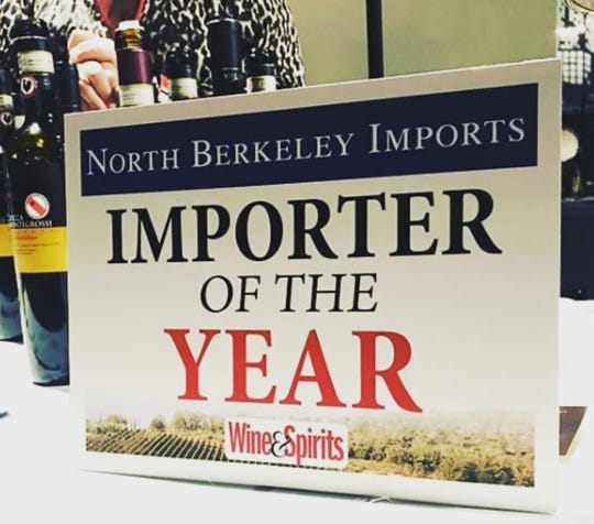 North Berkeley Imports was named Importer of the Year by Wine & Spirits magazine.