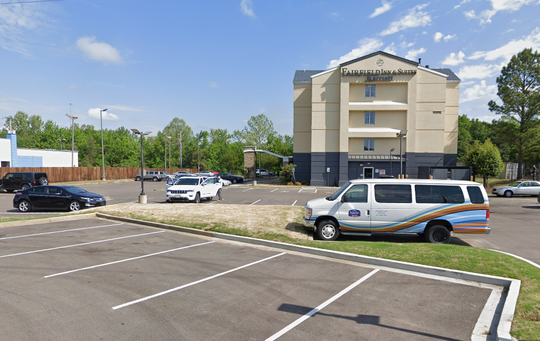 "Memphis police are searching for three men who were inside a vehicle that allegedly ""accelerated at"" officers in the parking lot of the Fairfield Inn and Suites."