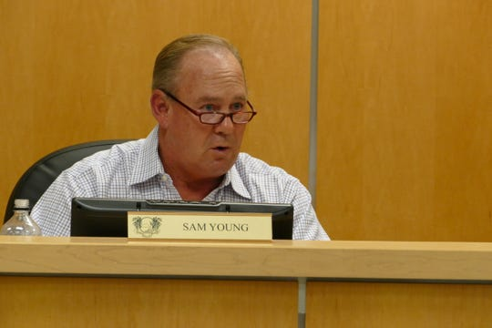 Marco Island city councilor Sam Young said the proposal to install art wraps on the city's utility boxes is a good investment. In the picture, Young speaks to City Council in a meeting on Dec. 2.