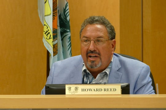 Marco Island city councilor Howard Reed was the only member who voted against the proposal to install art wraps on the city's utility boxes. In the picture, Reed speaks to City Council in a meeting on Dec. 2.