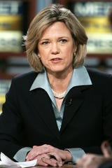 """Washington Post reporter Dana Priest speaks during a taping of """"Meet the Press"""" in 2005. The two-time Pulitzer Prize winner is speaking about disinformation and democracy Thursday at UWM for the 2019 George F. Kennan Distinguished Lecture."""