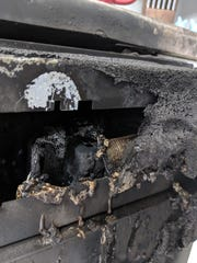 This Bosch dishwasher caught fire on Nov. 26 in the kitchen of a Wauwatosa home.