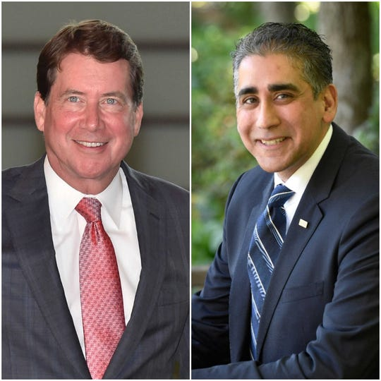 Bill Hagerty, left, and Manny Sethi