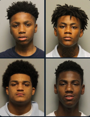 Four juveniles who escaped the Nashville juvenile detention center on Nov. 30, 2019.