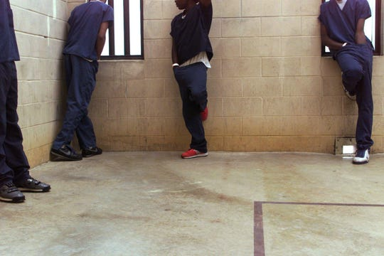 In this undated file photo, juveniles stand inside the Davidson County Juvenile Detention Center.
