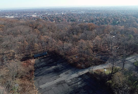Aerial view of where alleged serial killer Khalil Wheeler-Weaver is believed to have dumped the body of victim Sarah Butler at Eagle Rock Reservation. Photographed on Thursday, Nov. 21, 2019, in West Orange.