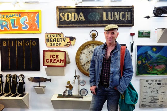 Vintage lifestyle expert and best-selling author Bob Richter stands among a collection of vintage treasures. Richter has attended and been inspired by flea markets and auctions for more than 40 years.
