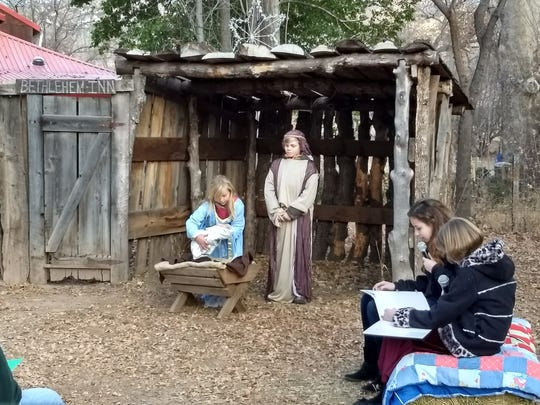 Youngsters will recreate an outdoor Nativity Scene Dec. 24 in Glenwood. This photo is from 2017.