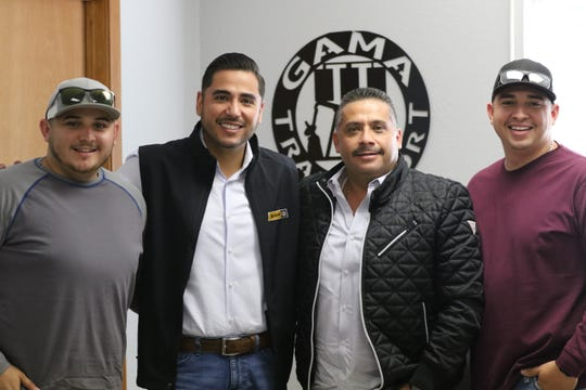 From left to right, Enrique Gama Jr., Juan Gama, Enrique Gama, Jose Enrique Gama.