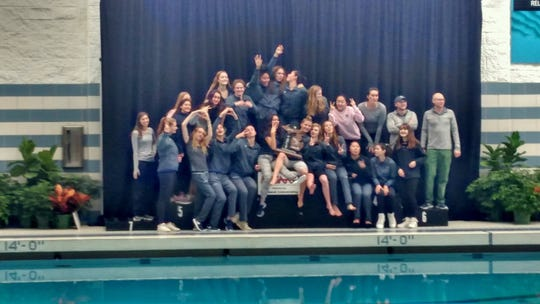The Cranbrook-Kingswood girls swim team placed second in the state in the Division 3 meet.