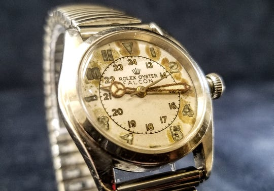 The trend to oversized watches is fading and smaller vintage watches like this Rolex are increasingly in favor.