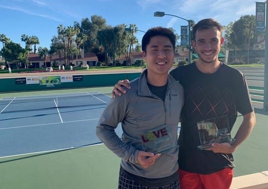 Open Division finalist Will Mak poses with winner Alex Cuperstein.
