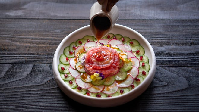 Toca Madera offers upscale Mexican fare, including sashimi mexicano (pictured), modern tapas and strawberry tres leches.