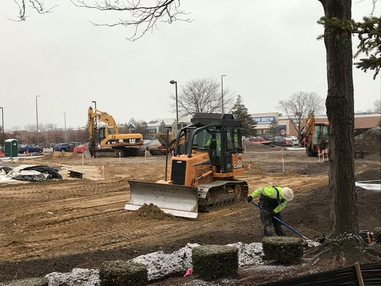 General contractor Oscar W. Larson Co. employees work on the site of the future Culver's franchise in Fort Gratiot Township on Dec. 3, 2019.