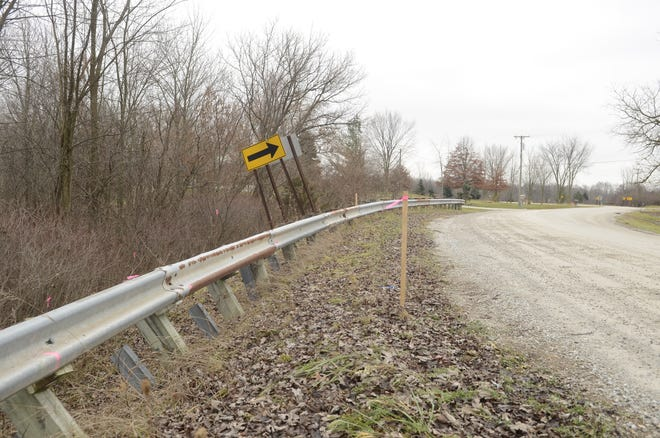 A round of work on Belle River Road will address a sinking guardrail.