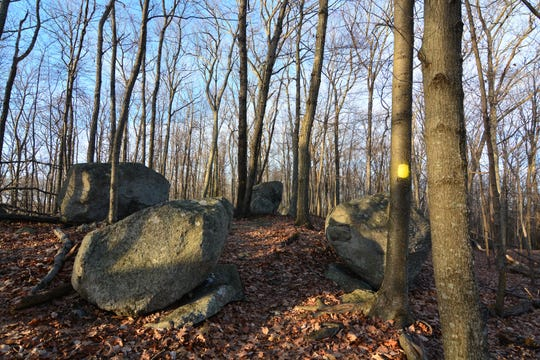 The top of Danbury's Bear Mountain is riddled with large rocks.