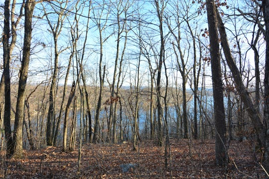Candlewood Lake can be seen in the distance along the hike on Danbury's Bear Mountain.