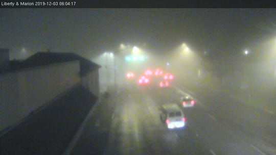 Dense fog settled in the Mid-Willamette Valley overnight. Image from Liberty and Marion traffic camera.