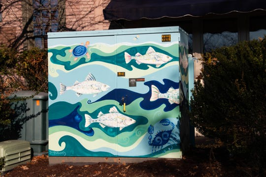 This painted electrical box is one of many decorated by local artists in the Salisbury area.