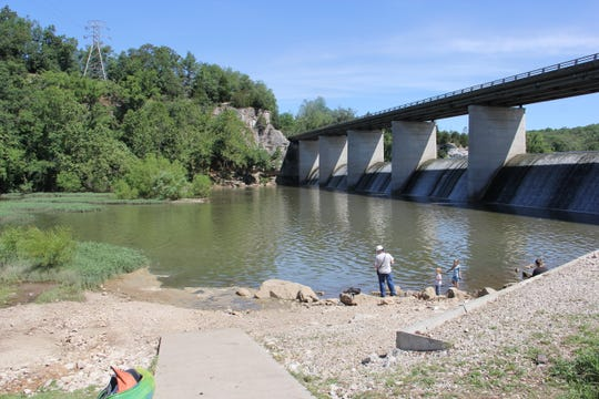 Lake Springfield was created when this dam was built across the James River to provide cooling water for nearby James River Power Station. The lake's water quality has diminished in recent years, according to water expert Joe Pitts of Ozark.