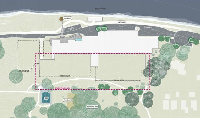 Planned repairs to the roof of St. Cloud's drinking water treatment facility will require the grass to be torn up and allow for development of the riverwalk.