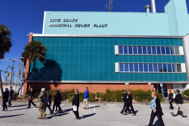 Members of the public, Vero Beach City Council and the Three Corners Steering Committee tasked with helping to decide what to do with the former Vero Beach Municipal Power Plant begin a tour of the facility on Tuesday, Dec. 3, 2019, in Vero Beach. The property is part of the city-owned Three Corners properties at the 17th Street and Indian River Boulevard intersection.