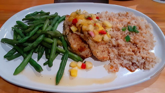 The macadamia crusted red snapper entree lit up my palate.