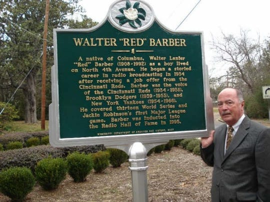 Joe Sanchez, former radio voice of the Vero Beach Dodgers and Fighting Indians,  was present to help dedicate a historical marker honoring legendary sportscaster Red Barber in Columbus, Mississippi. The 2008 event marked the 100th birthday of the late Barber, who was born in Columbus and went on to announce Major League Baseball for the Cincinnati Reds, Brooklyn Dodgers and New York Yankees.