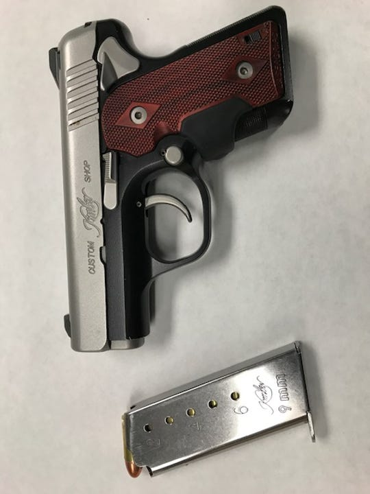 Oxnard police seized a firearm Monday night after a pursuit that ended with the the arrest of Alejandro Flores.