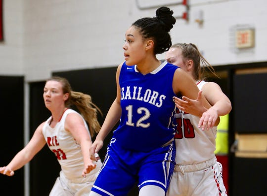 Hen Hud senior Caitlin Weimare is a 6-foot-3 presence at both ends of the floor. She is heading for Marist next season.